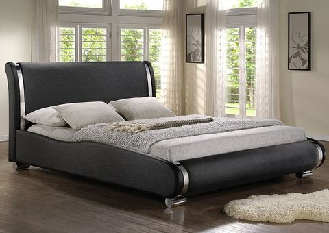Кровать из рифлённой экокожи люкс S-015 ...
