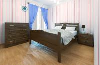 Кровать Стефано с высоким изножьем (массив бука) | DreamExpert